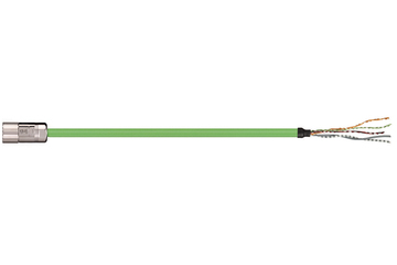 readycable® feedback cable suitable for Allen Bradley 2090-CFBM4DF-CDAFxx, base cable PUR 7.5 x d